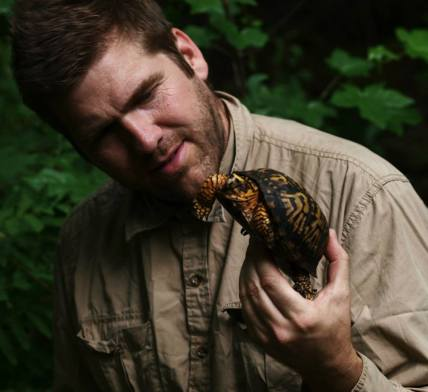 Jeff with box turtle